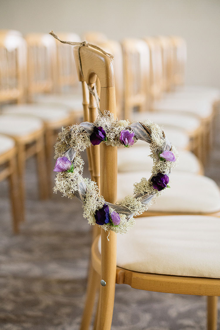 Heart Chair Flowers Decor Ceremony Pew End Charming Natural Countryside Tipi Wedding http://www.pauljosephphotography.co.uk/