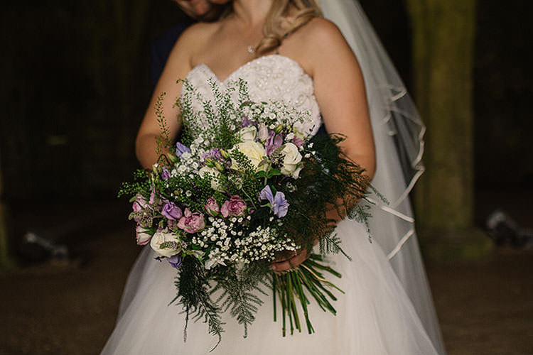 Bouquet Flowers Bride Bridal Fern Purple Roses Ivory Pink Charming Natural Countryside Tipi Wedding http://www.pauljosephphotography.co.uk/