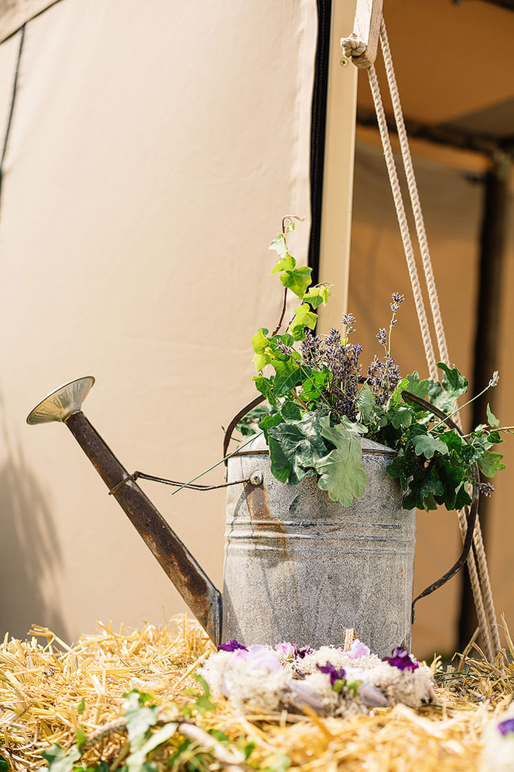 Watering Can Flowers Charming Natural Countryside Tipi Wedding http://www.pauljosephphotography.co.uk/