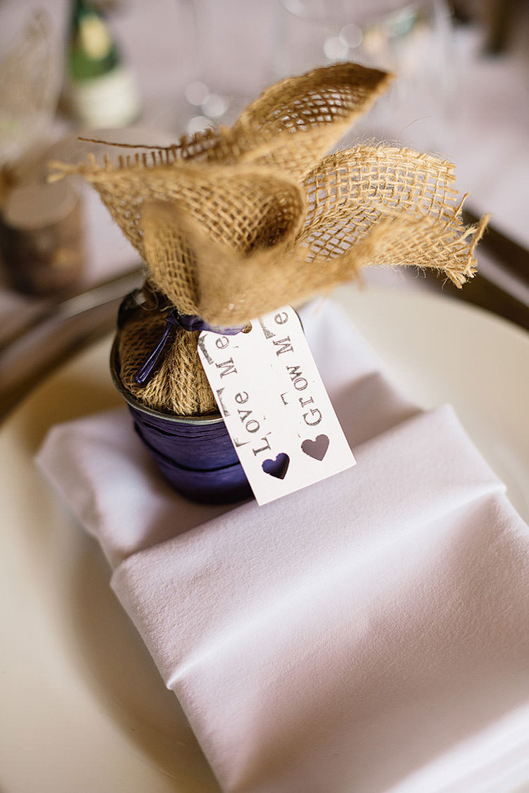 Pot Plant Favours Place Setting Decor Charming Natural Countryside Tipi Wedding http://www.pauljosephphotography.co.uk/