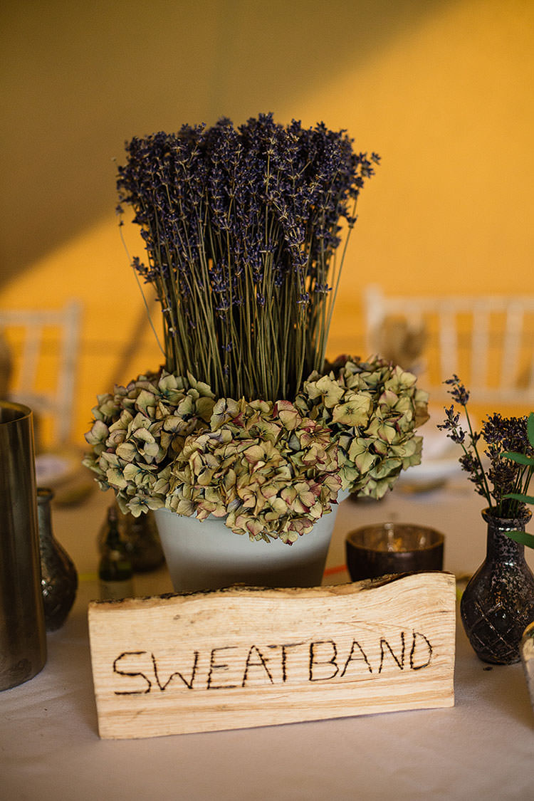 Lavender Hydrangea Centrepiece Table Decor Charming Natural Countryside Tipi Wedding http://www.pauljosephphotography.co.uk/
