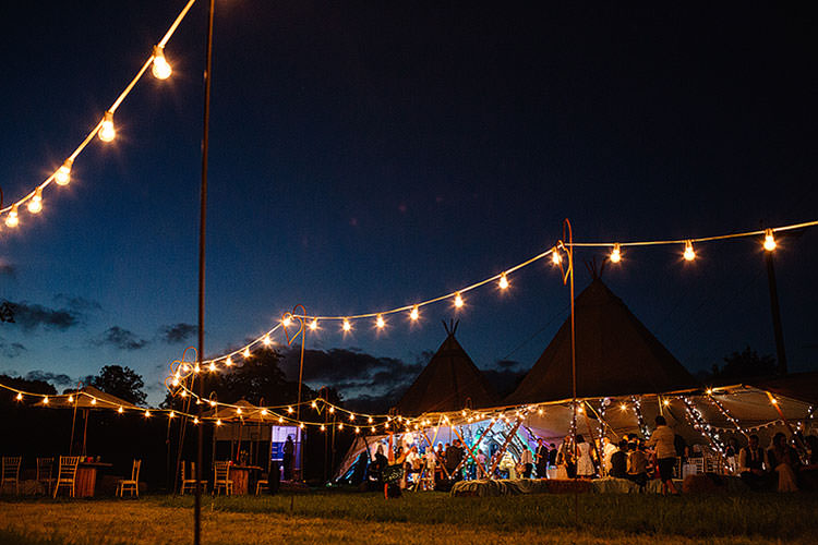 Festoon Lights Magic Charming Natural Countryside Tipi Wedding http://www.pauljosephphotography.co.uk/