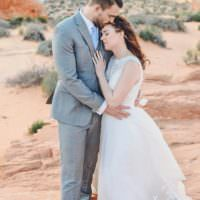 Windy Valley of Fire Wedding Nevada https://cactusandlaceweddings.com/