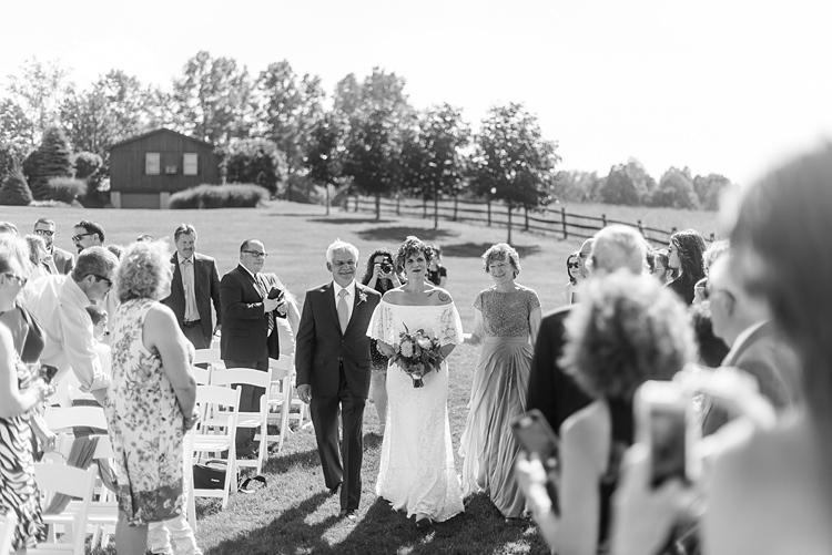 Bride Aisle Guests Ceremony Colourful Bohemian Barn Wedding Pennsylvania http://www.dawn-derbyshire.com/