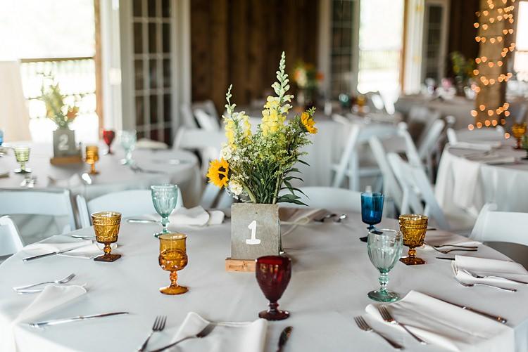 Table Glassware Colourful Bohemian Barn Wedding Pennsylvania http://www.dawn-derbyshire.com/