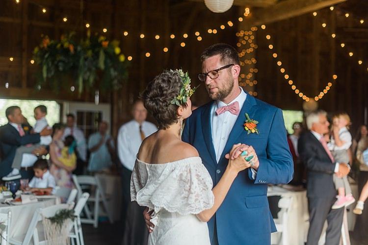 First Dance Colourful Bohemian Barn Wedding Pennsylvania http://www.dawn-derbyshire.com/