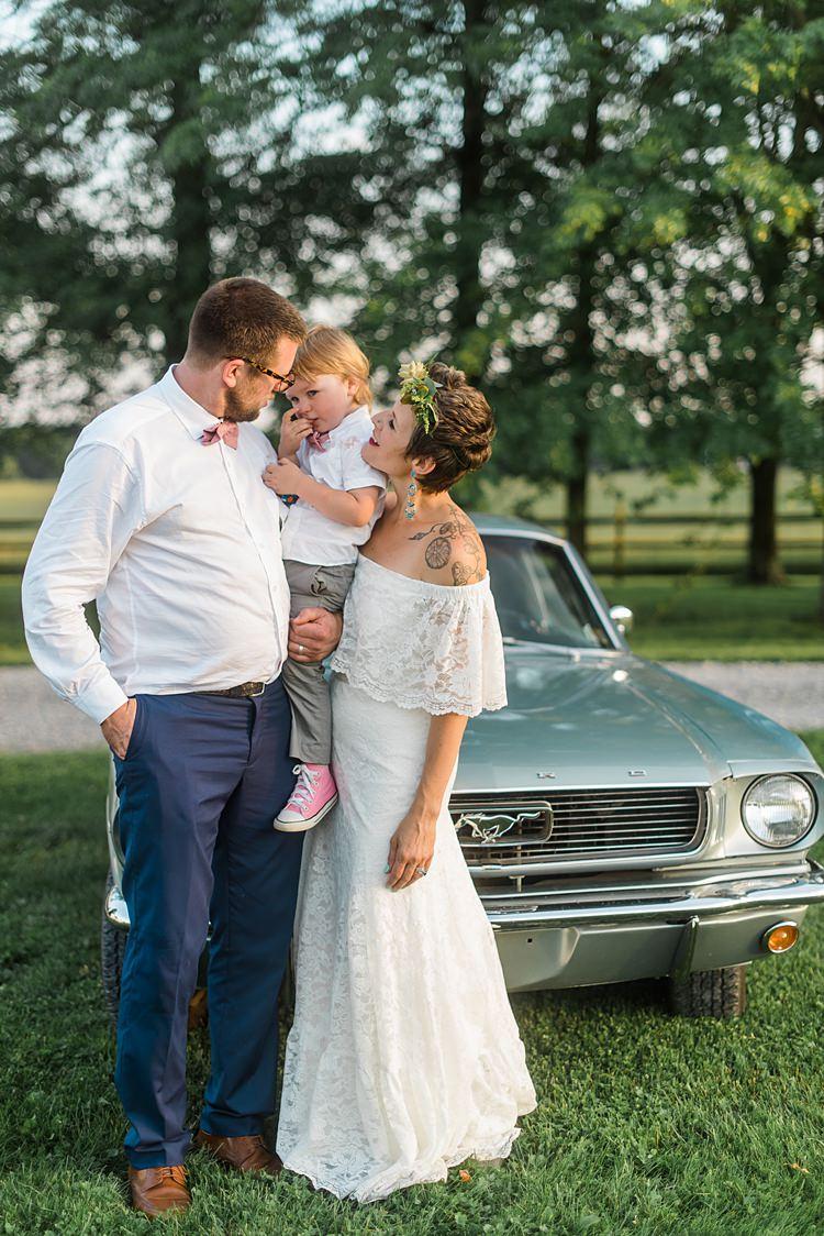 Bride Groom Pageboy Son Colourful Bohemian Barn Wedding Pennsylvania http://www.dawn-derbyshire.com/