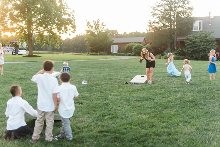 Family Games Lawn Colourful Bohemian Barn Wedding Pennsylvania http://www.dawn-derbyshire.com/