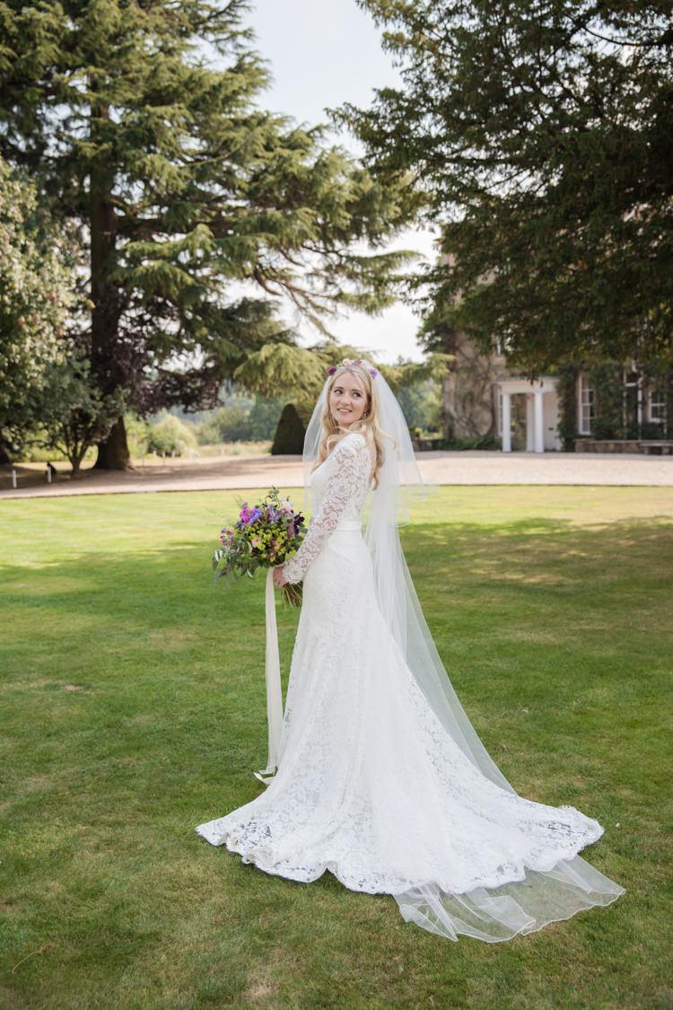 Lace Sleeves Bride Bridal Dress Gown Veil Summer Festival Country Estate Wedding http://kerryannduffy.com/