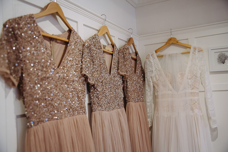 Sequin Top Bridesmaid Dresses Blush Simple Cosy Country Winter Wedding http://hayleybaxterphotography.com/