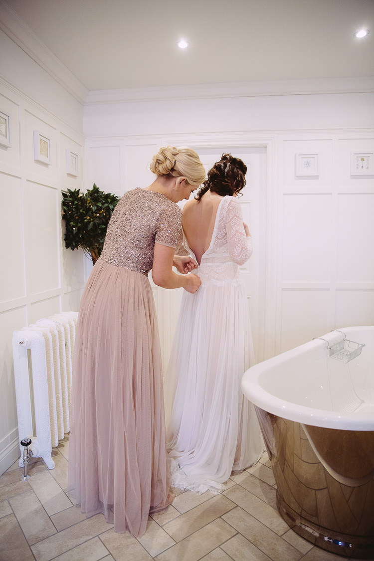 Deirdre Maggie Sottero Illusion Lace Tulle Dress Gown Bride Bridal Simple Cosy Country Winter Wedding http://hayleybaxterphotography.com/