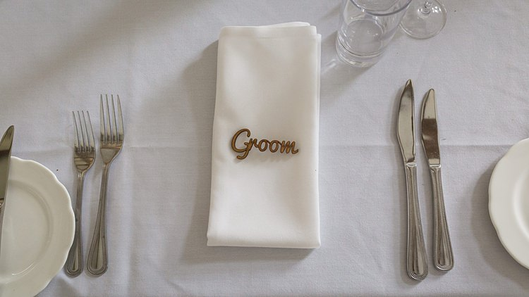 Wooden Place Name Setting Big Stylish Outdoors Glamping Wedding https://www.jessyarwood.co.uk/
