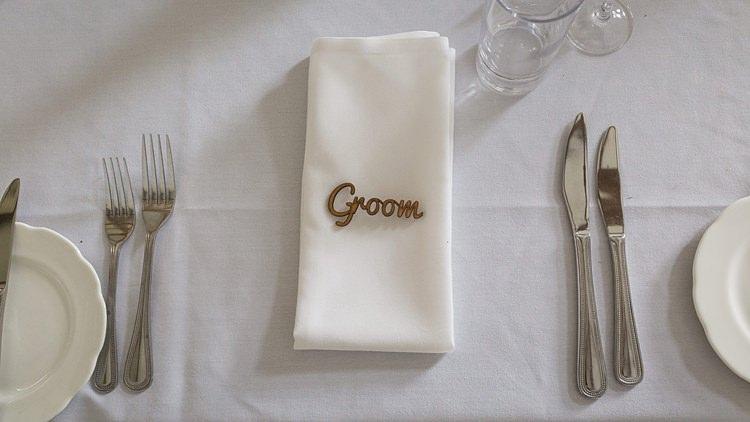 Wooden Place Name Setting Big Stylish Outdoors Glamping Wedding https://www.jessyarwood.co.uk/