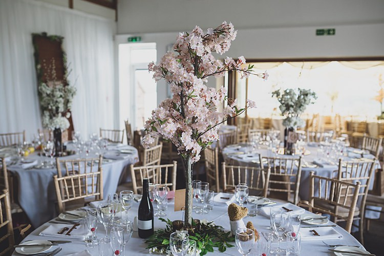 Blossom Tree Centrepiece Decor Big Stylish Outdoors Glamping Wedding https://www.jessyarwood.co.uk/