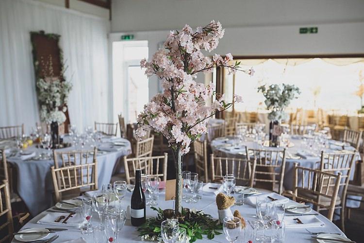 Blossom Tree Centrepiece Decor Big Stylish Outdoors Glamping Wedding https://www.jessyarwood.co.uk/