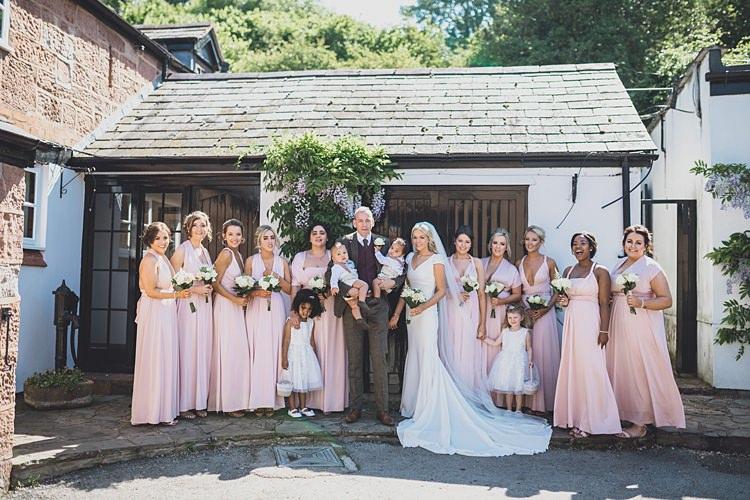 Long Pink Bridesmaids Dresses Big Stylish Outdoors Glamping Wedding https://www.jessyarwood.co.uk/