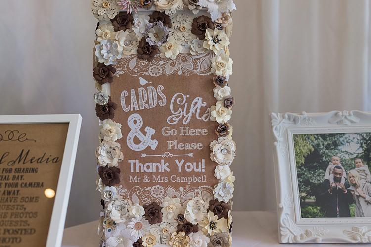 Flower Paper Card Box Big Stylish Outdoors Glamping Wedding https://www.jessyarwood.co.uk/