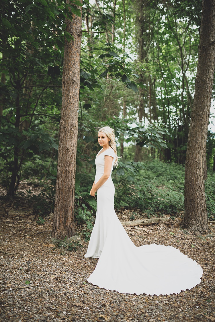 Pronovias Dress Gown Cap Sleeves Train Bride Bridal Big Stylish Outdoors Glamping Wedding https://www.jessyarwood.co.uk/