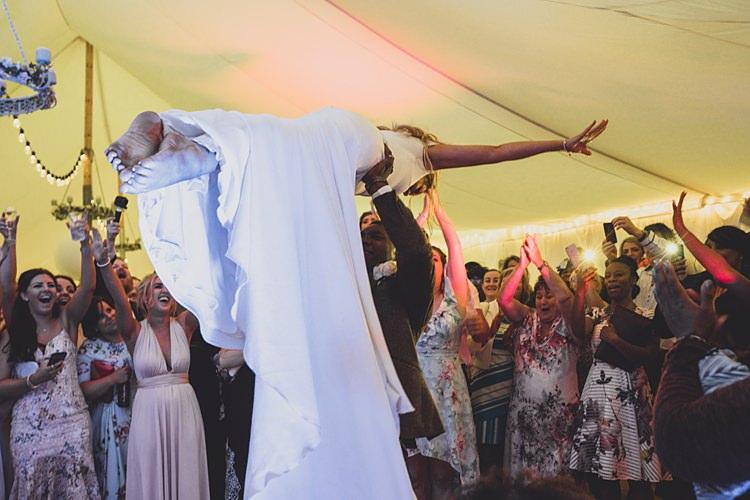 Dirty Dancing Lift Bride Groom Big Stylish Outdoors Glamping Wedding https://www.jessyarwood.co.uk/