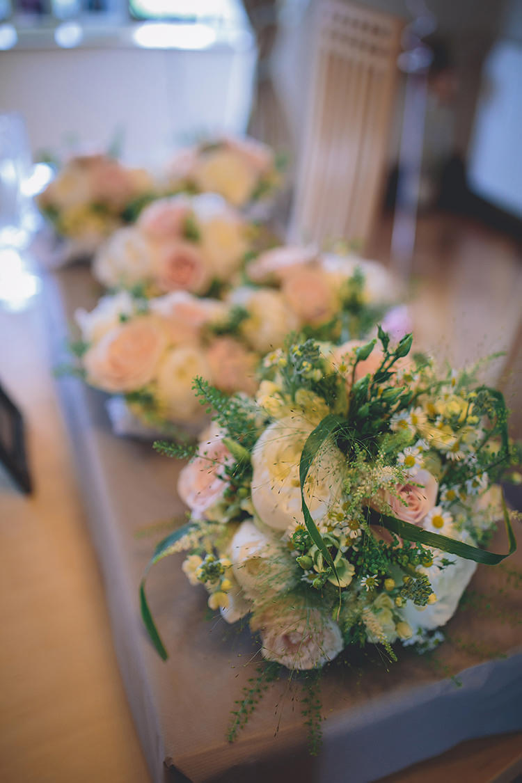 Pink Rose Peony Daisy Bouquet Flowers Darling Pale Pastels Conservatory Wedding http://storyandcolour.co.uk/