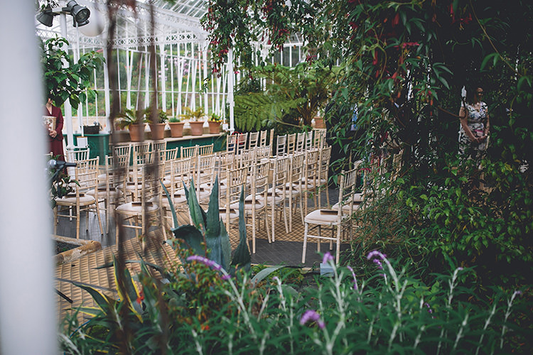 Botanical Tropical Greenery Ceremony Darling Pale Pastels Conservatory Wedding http://storyandcolour.co.uk/