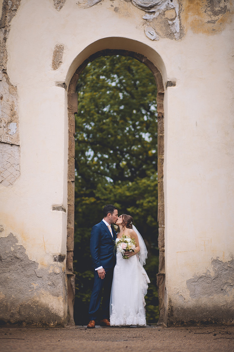 Henrietta Lusan Mandongus Dress Gown Bride Bridal Strapless Lace Darling Pale Pastels Conservatory Wedding http://storyandcolour.co.uk/