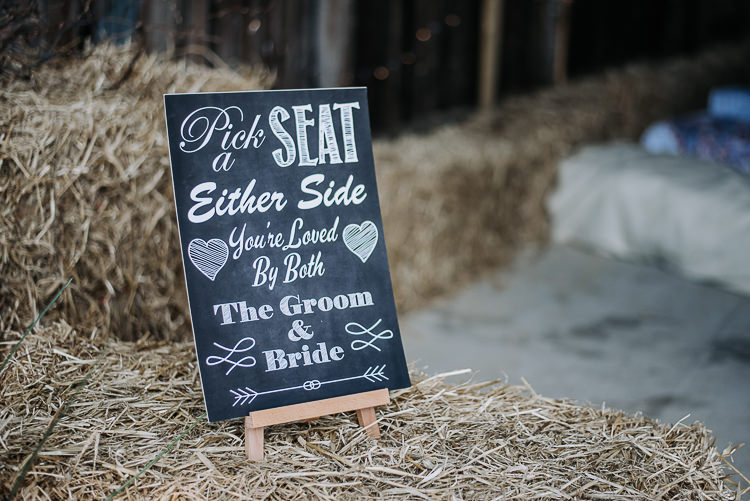 Pick a Seat Side Sign Ceremony Rustic Farm Barn DIY Wedding http://www.kazooieloki.co.uk/
