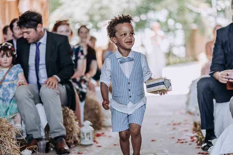 Page Boy Waist Coat Shorts Bow Tie Rings Rustic Farm Barn DIY Wedding http://www.kazooieloki.co.uk/