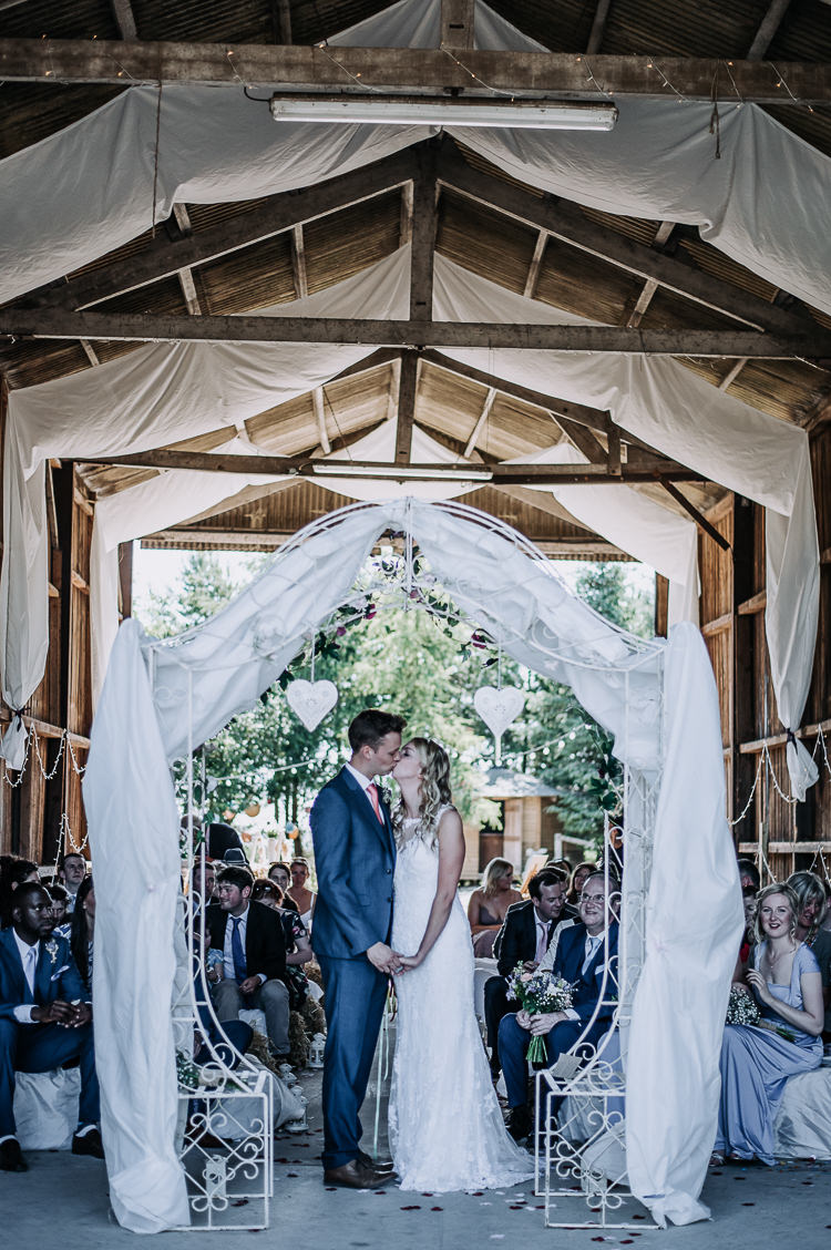 Arch Backdrop Ceremony Fabric Drapes Rustic Farm Barn DIY Wedding http://www.kazooieloki.co.uk/