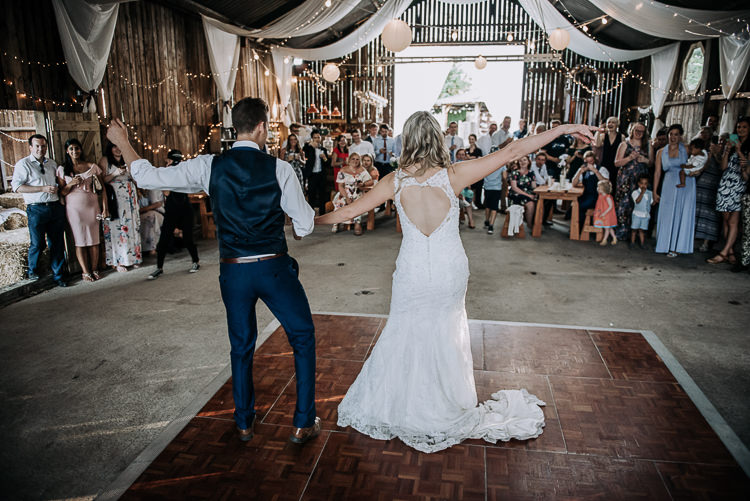 First Dance Bride Groom Rustic Farm Barn DIY Wedding http://www.kazooieloki.co.uk/