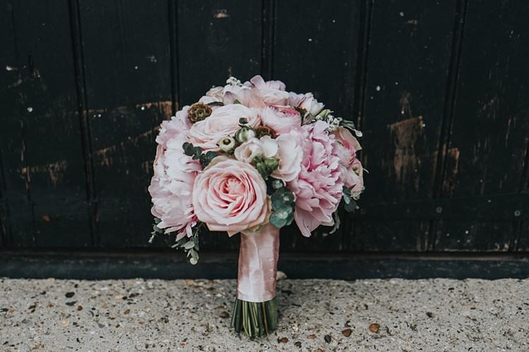 Pink Rose Peony Peonies Bouquet Flowers Bride Bridal Burgundy Blush Minimal Elegant Barn Wedding http://www.rosshurley.com/