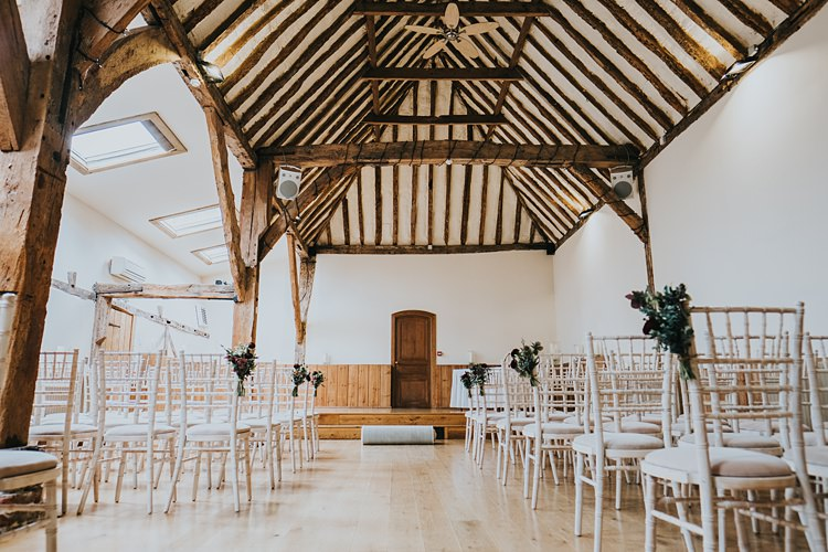Winters Barn Kent Ceremony Burgundy Blush Minimal Elegant Barn Wedding http://www.rosshurley.com/