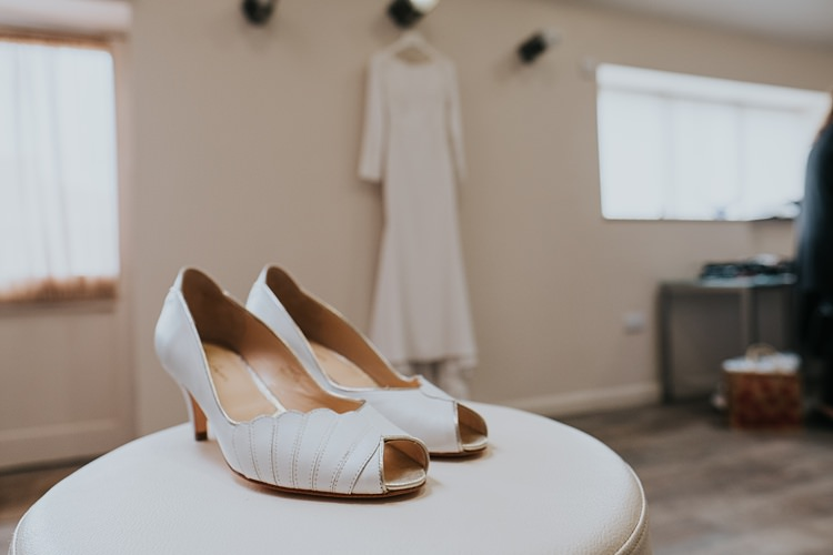 Rachel Simpson Gold Shoes Bride Bridal Burgundy Blush Minimal Elegant Barn Wedding http://www.rosshurley.com/