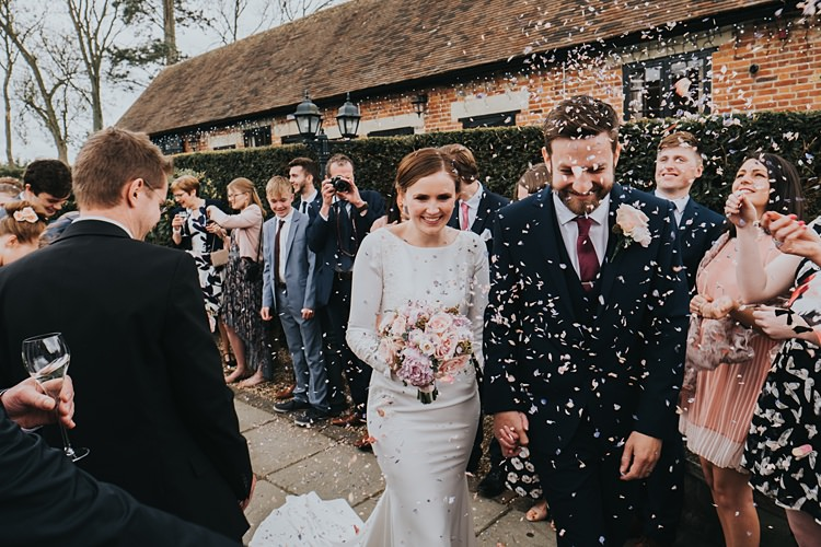 Confetti Throw Burgundy Blush Minimal Elegant Barn Wedding http://www.rosshurley.com/
