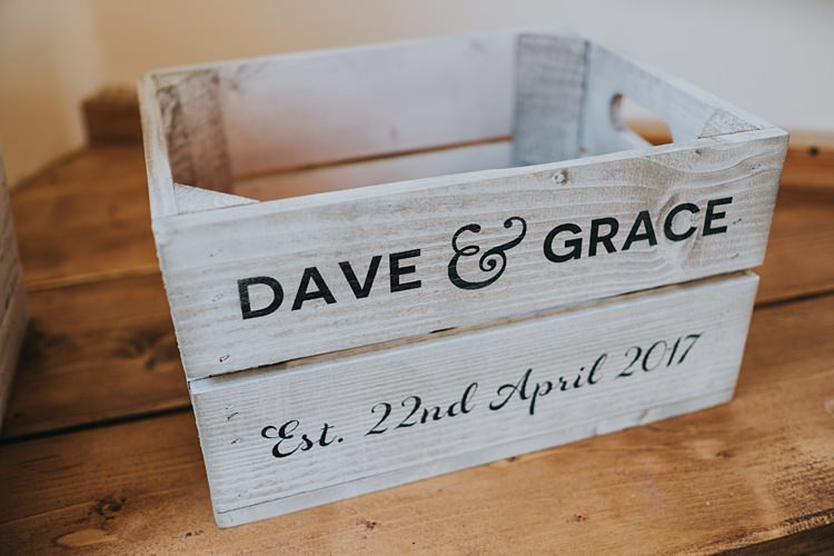 Personalised Crate Box Decor Cards Burgundy Blush Minimal Elegant Barn Wedding http://www.rosshurley.com/