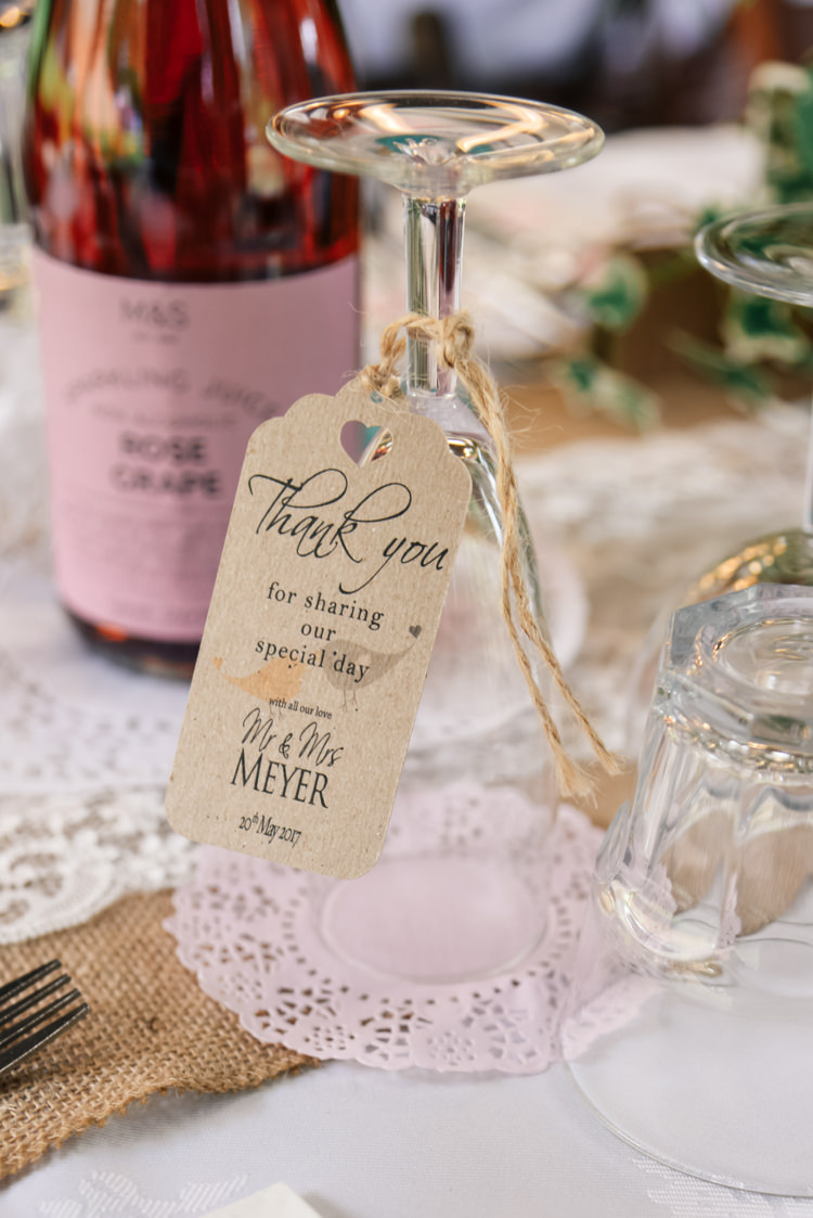 Luggage Tag Place Setting Camp Festival Style Chilled Wedding http://www.memoriesmilestones.co.uk/