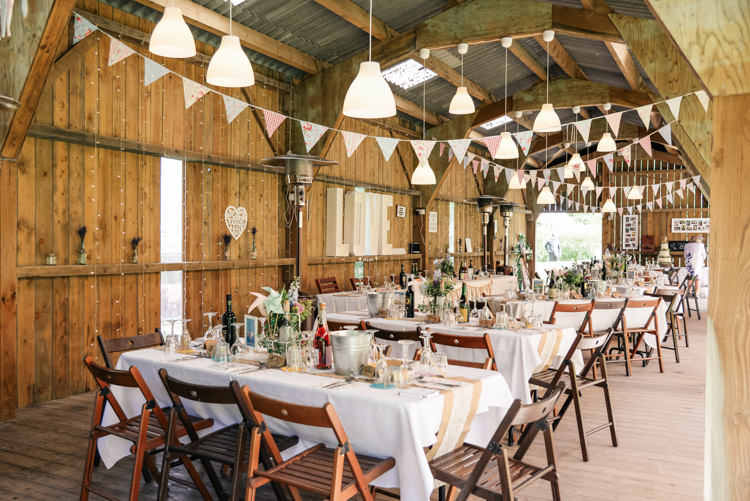Rustic Barn Furniture Bunting Camp Festival Style Chilled Wedding http://www.memoriesmilestones.co.uk/