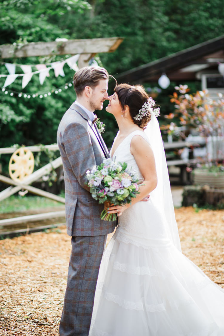 Cymbeline Lace Dress Gown Tiered Bride Bridal Camp Festival Style Chilled Wedding http://www.memoriesmilestones.co.uk/