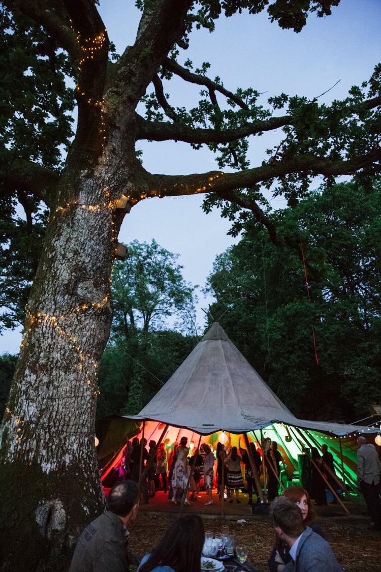 Tipi Lighting Evening Party Camp Festival Style Chilled Wedding http://www.memoriesmilestones.co.uk/