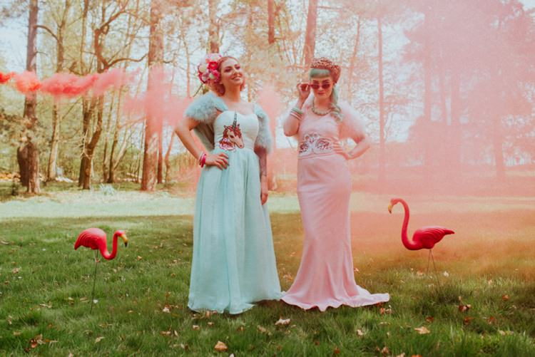 Smoke Bombs Brides Retro Kitsch Pastel Mint Pink Wedding Ideas http://www.beckyryanphotography.co.uk/