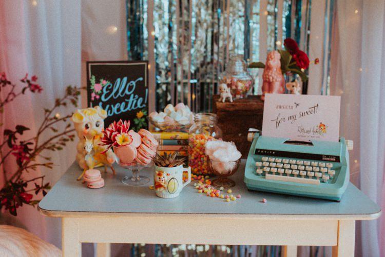 Sweets Sweetie Table Retro Kitsch Pastel Mint Pink Wedding Ideas http://www.beckyryanphotography.co.uk/
