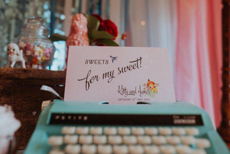 Vintage Typewriter Guest Book Retro Kitsch Pastel Mint Pink Wedding Ideas http://www.beckyryanphotography.co.uk/