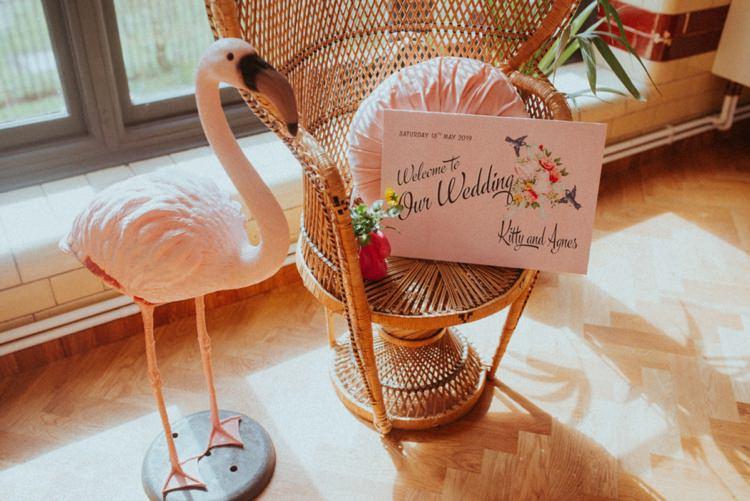 Flamingo Decor Retro Kitsch Pastel Mint Pink Wedding Ideas http://www.beckyryanphotography.co.uk/