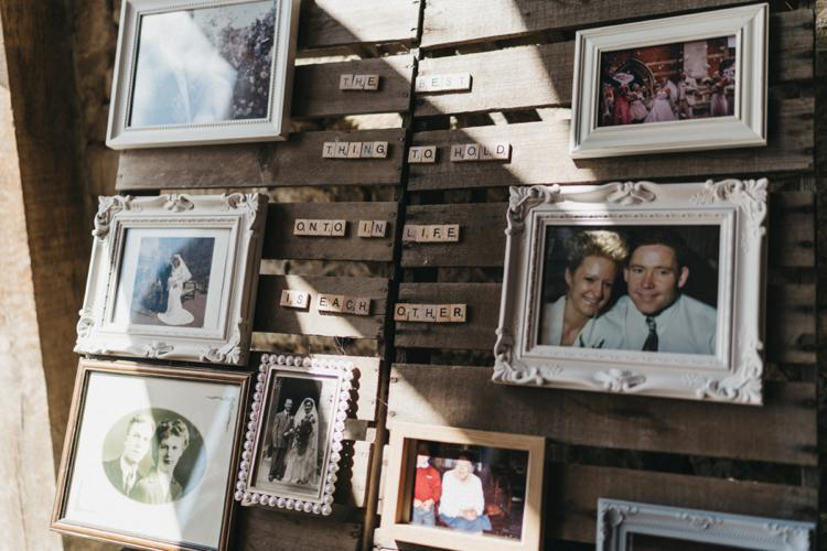 Family Photos Wooden Pallet Eclectic Cool Glam Barn Wedding http://luciusfoxphotography.com/ http://www.stevebridgwoodphotography.co.uk/