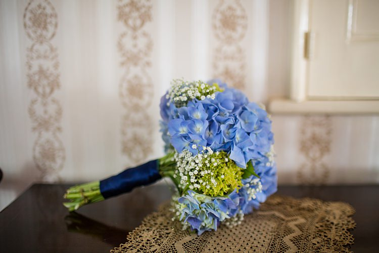 Blue Hydrangea Bouquet Flowers Bride Bridal Country Rustic Picnic Marquee Wedding https://www.binkynixon.com/