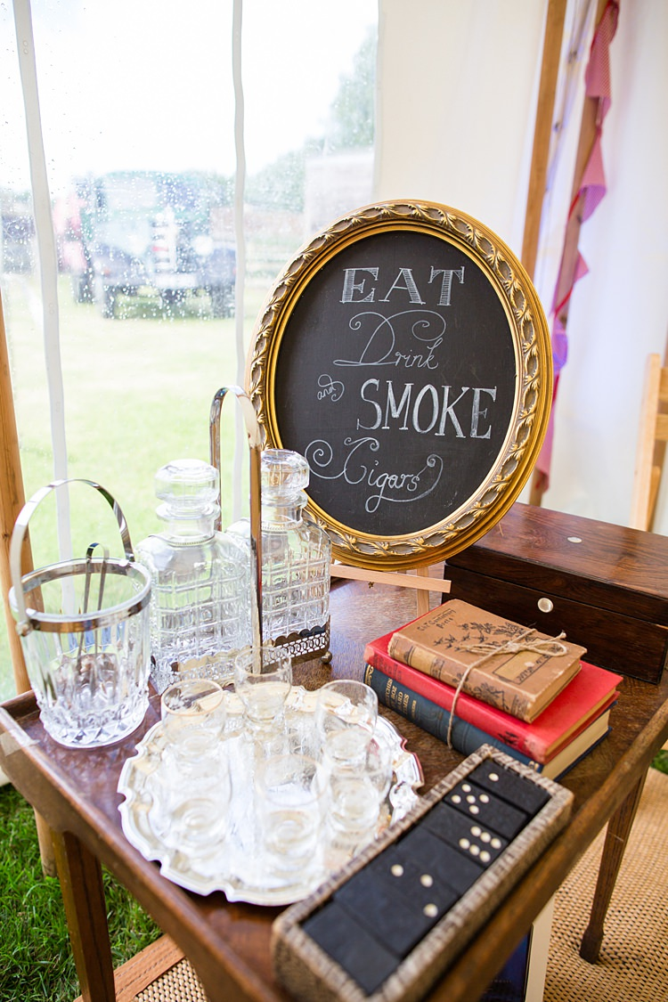 Cigar Table Decor Country Rustic Picnic Marquee Wedding https://www.binkynixon.com/