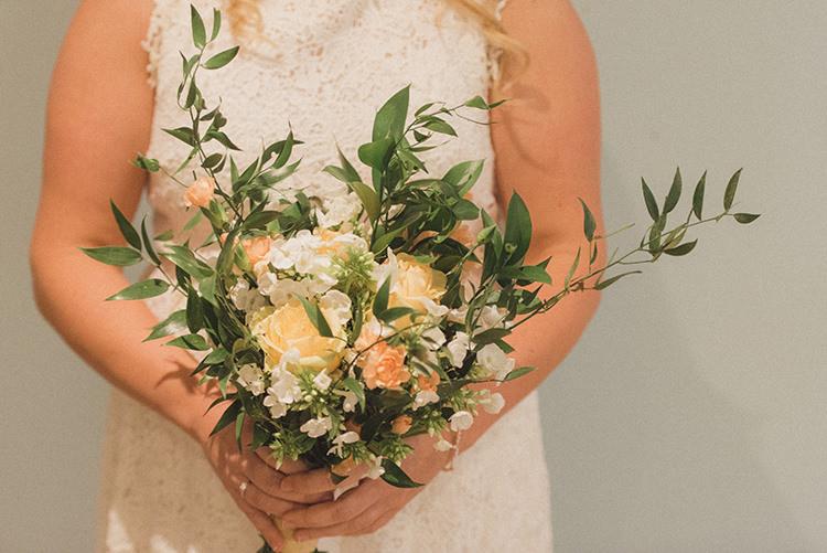 Peach Rose Bouquet Flowers Bride Bridal DIY Rustic Woodland Marquee Wedding http://www.rebeccadouglas.co.uk/