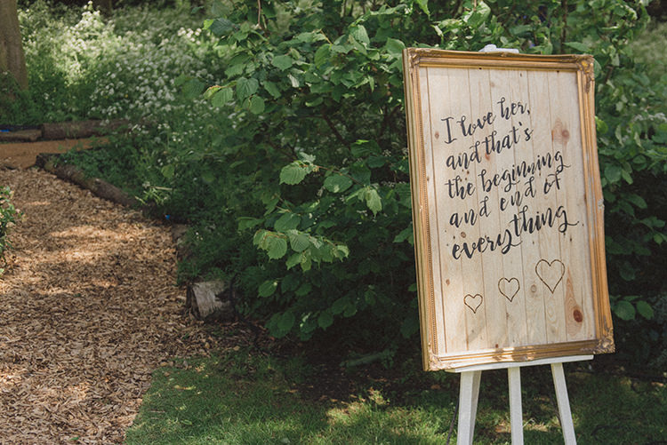 Love Quote Sign Wooden Frame Calligraphy DIY Rustic Woodland Marquee Wedding http://www.rebeccadouglas.co.uk/