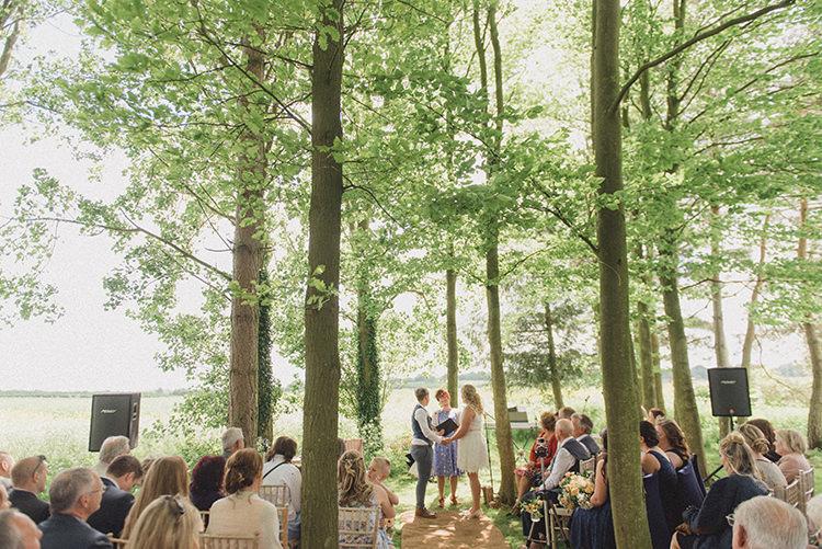 Woods Forest Outdoor Ceremony UK DIY Rustic Woodland Marquee Wedding http://www.rebeccadouglas.co.uk/