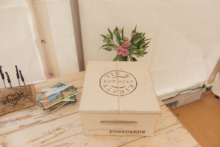 Card Box Personalised Wooden DIY Rustic Woodland Marquee Wedding http://www.rebeccadouglas.co.uk/